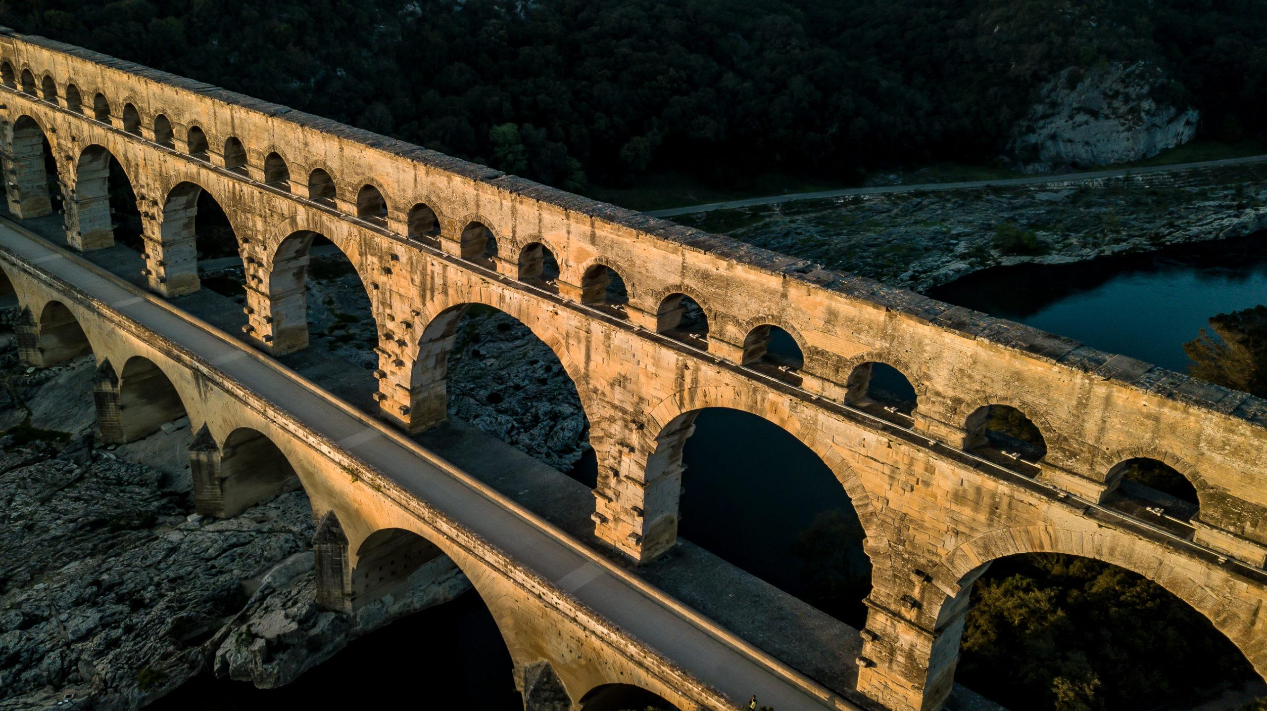 Au pont du Gard